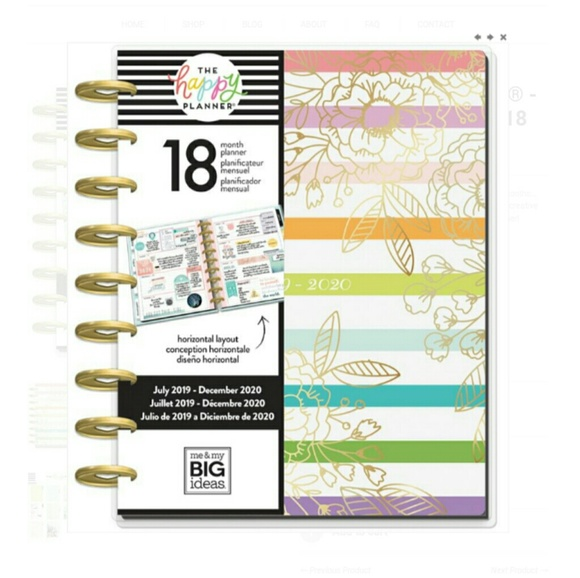 Grow Your Own Way Classic Size The Happy Planner NWT